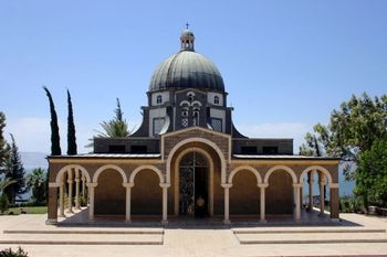 "The Mount of the Beatitudes....Now when he saw the crowds, he went up on a mountainside and sat down. His disciples came to him, and he began to teach them, saying:        Blessed are the poor in spirit, for theirs is the kingdom of heaven.      Blessed are those who mourn, for they will be comforted.      Blessed are the meek, for they will inherit the earth."" (Mt 5:1-5)"
