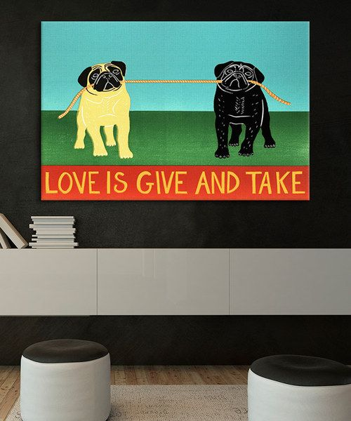 Look at this 'Love Is Give And Take' Gallery-Wrapped Canvas on #zulily today!