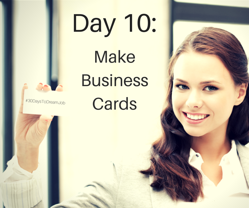 Make Business Cards for Your Job Search   Order business cards ...