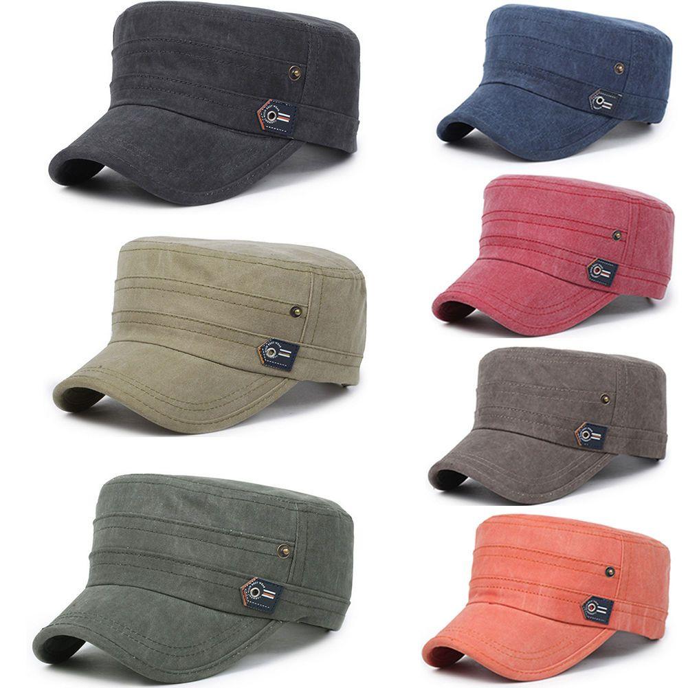 73fafc1c2cc9a2 Women Men Plain Army Military Cadet Cotton Cap Hat Adjustable Baseball  Sports As
