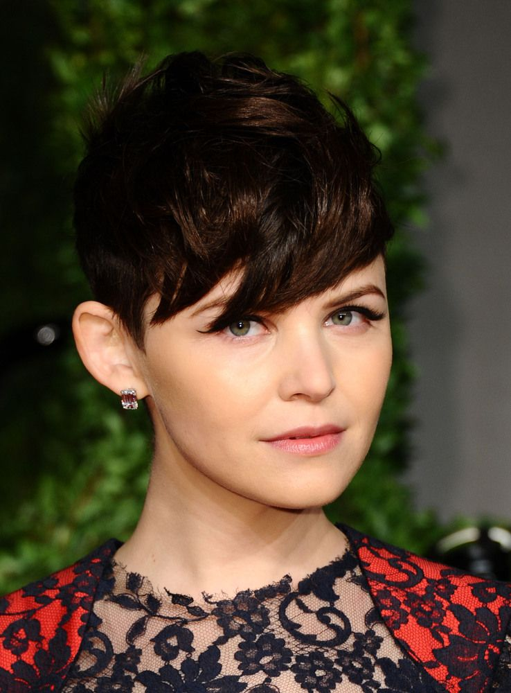 Ginnifer Goodwin S Hair Story The Long Short Of It Celebrity Short Hair Messy Curly Hair Short Hair Styles