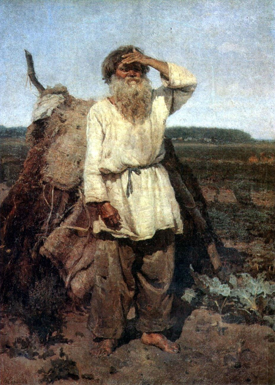 vasily surikov paintings the old gardener