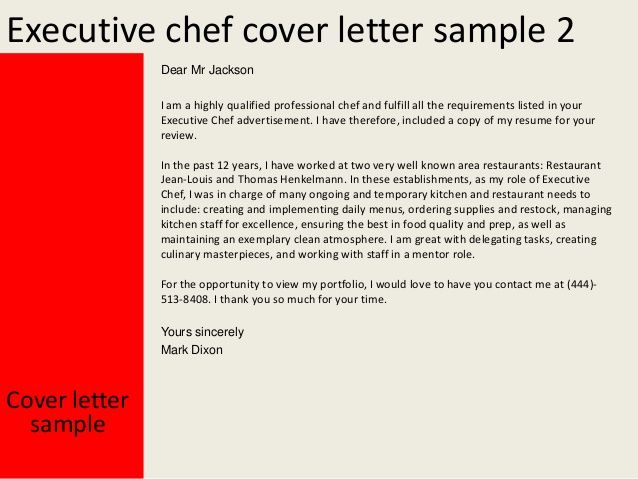 Executive Chef Cover Letter This File You Can Ref Home Design Idea - Latent-fingerprint-examiner-cover-letter