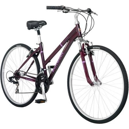 700c Schwinn Third Avenue Women S Hybrid Bike Plum Walmart Com