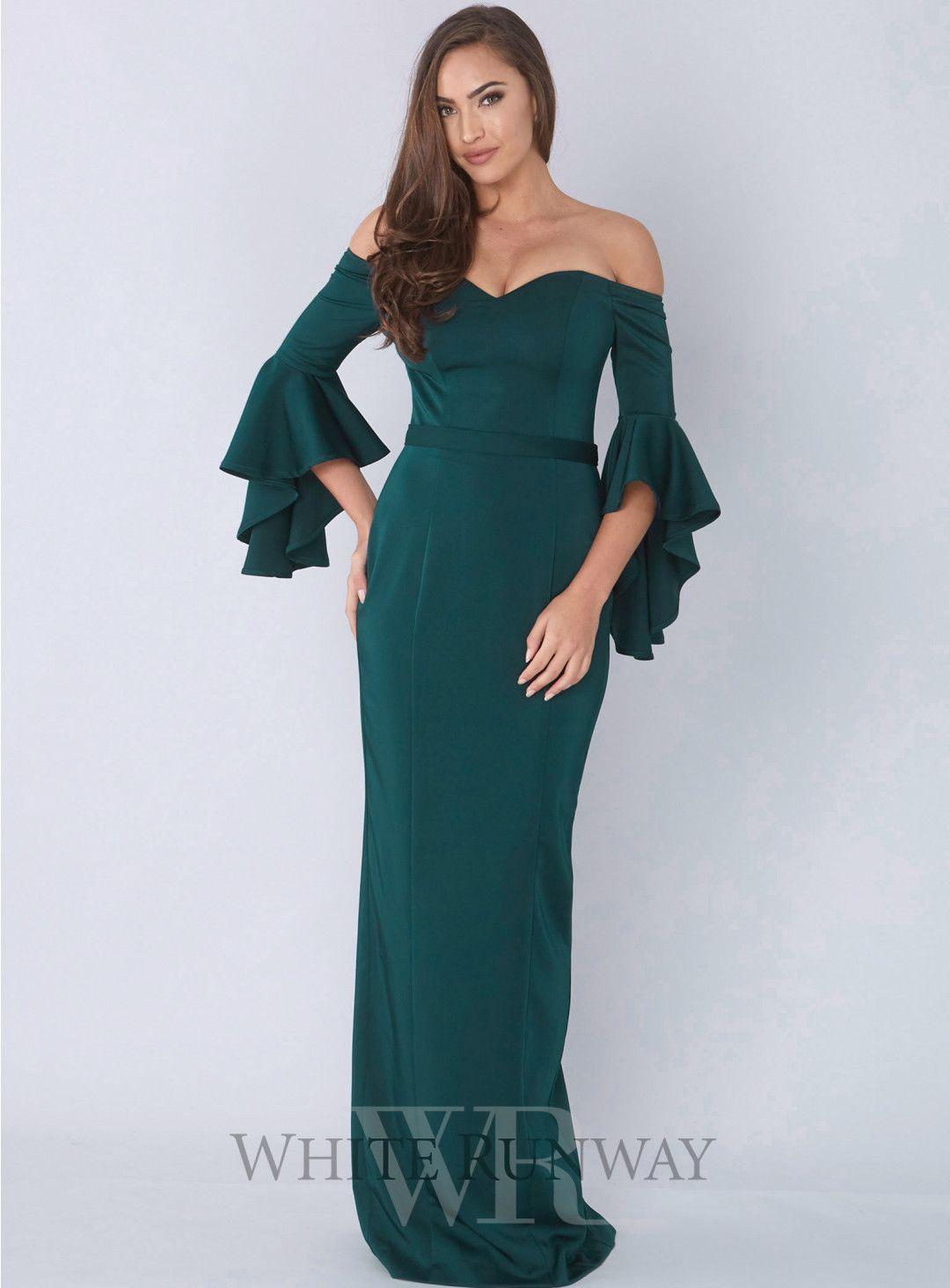 c02a43a1987f Mila Dress. A stunning full length dress by Jadore. An off shoulder style  featuring a sweetheart neckline