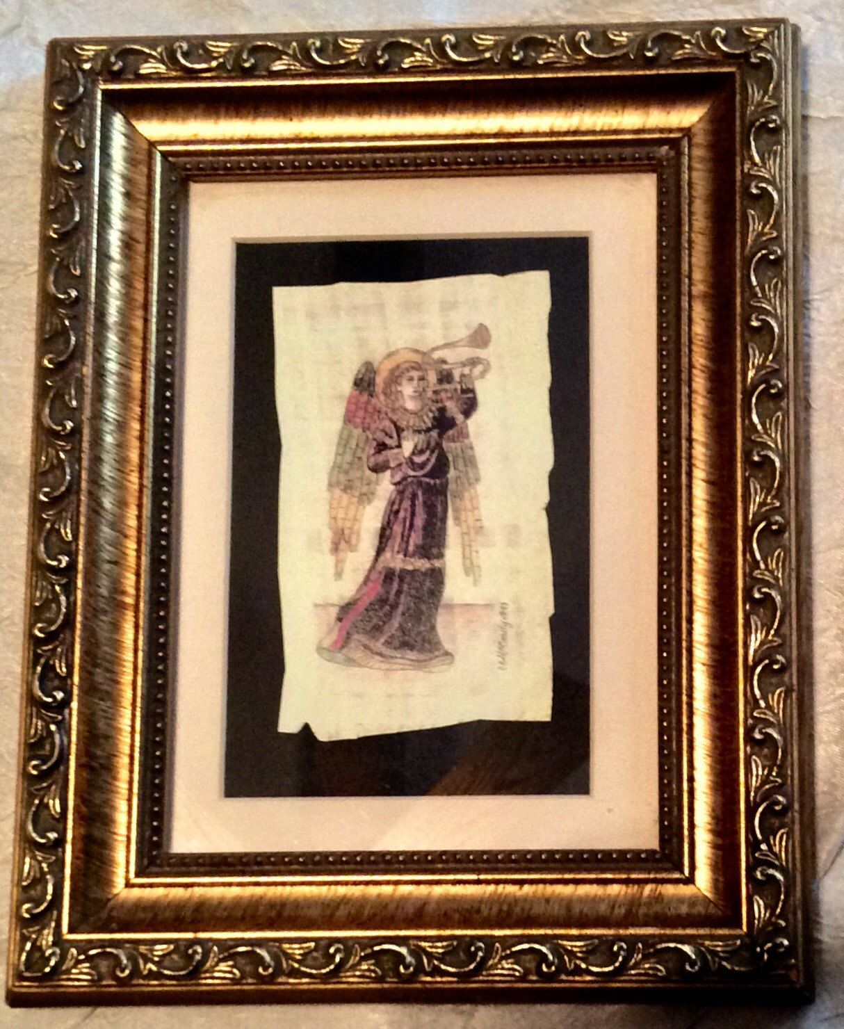Guardian Angel Papyrus Original Painting by Carol McCrady ...