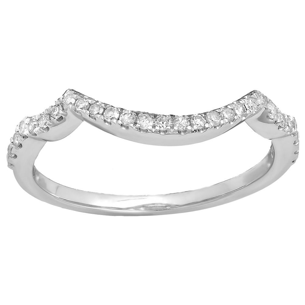 10k Gold 15ct TDW Roundcut Diamond Anniversary Stackable Band