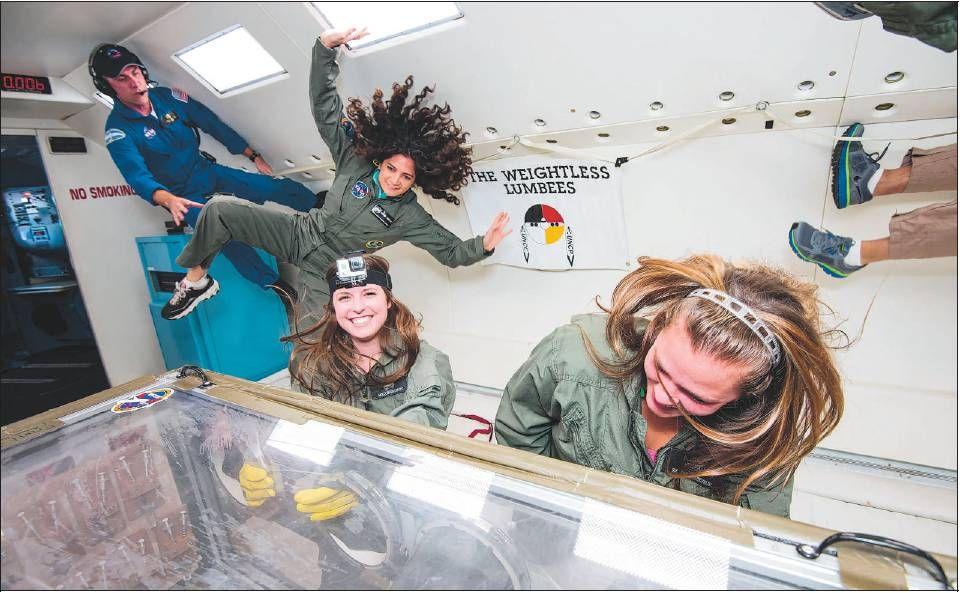 "UNC Pembroke ""Weightless Lumbees"" conduct zero gravity ..."