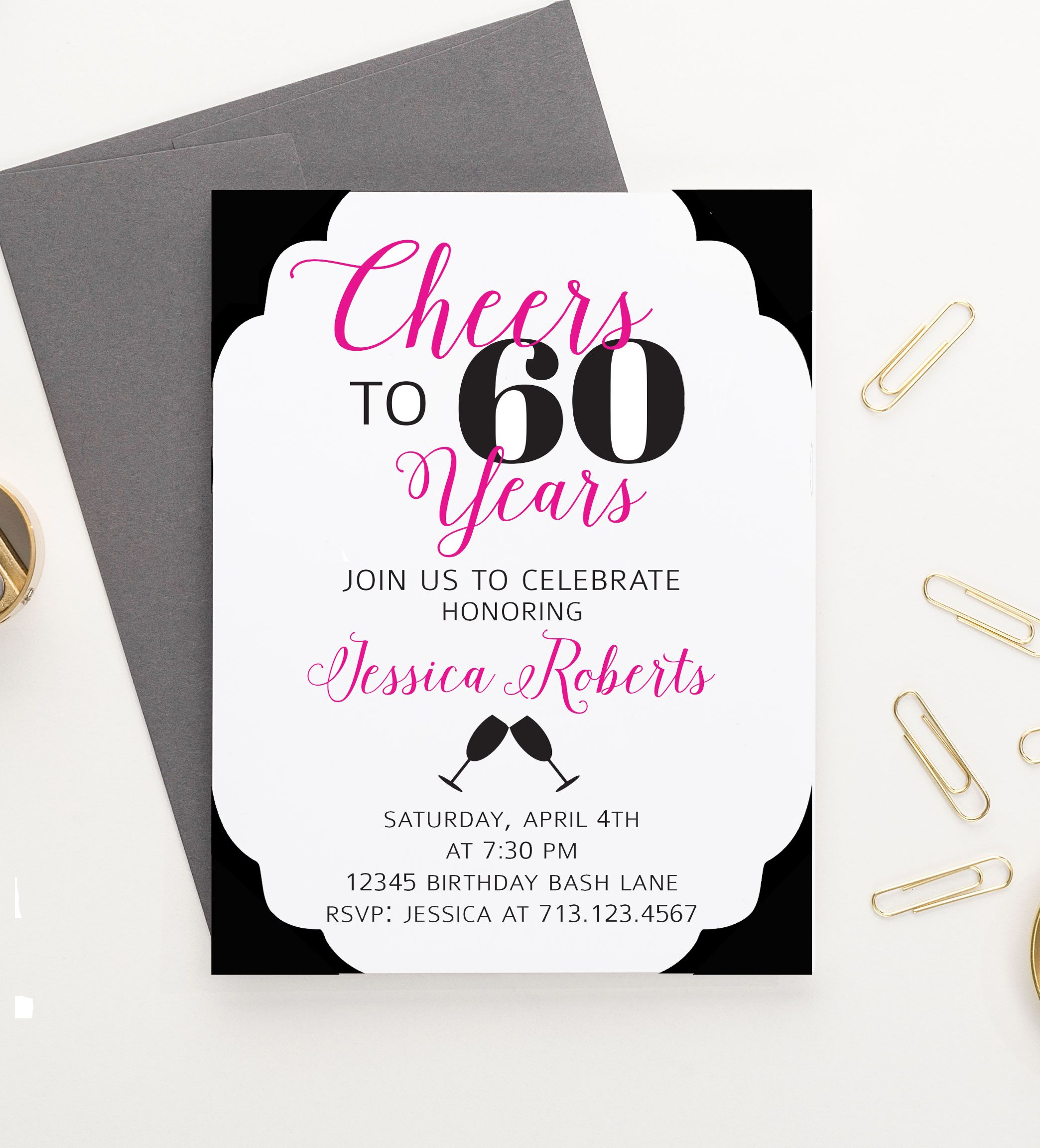 Cheers to 60 years birthday invitations milestone birthday party cheers to 60 years birthday invitations milestone birthday party invitations stopboris