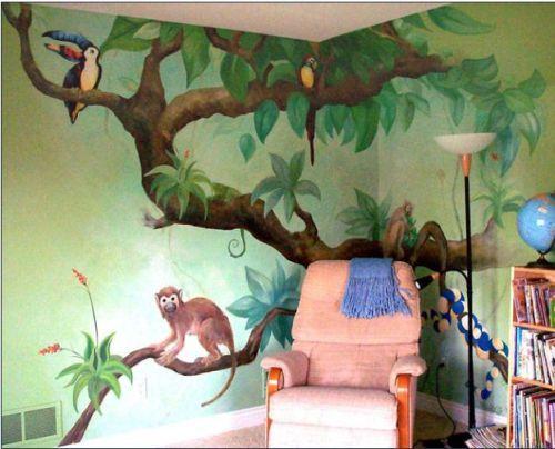 Wall Murals Ideas 2 Kids Room Wall Murals Jungle Mural Kids
