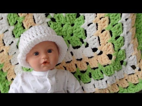 Bernat Baby Blanket - From the Middle: Part 1 - How to Crochet ...