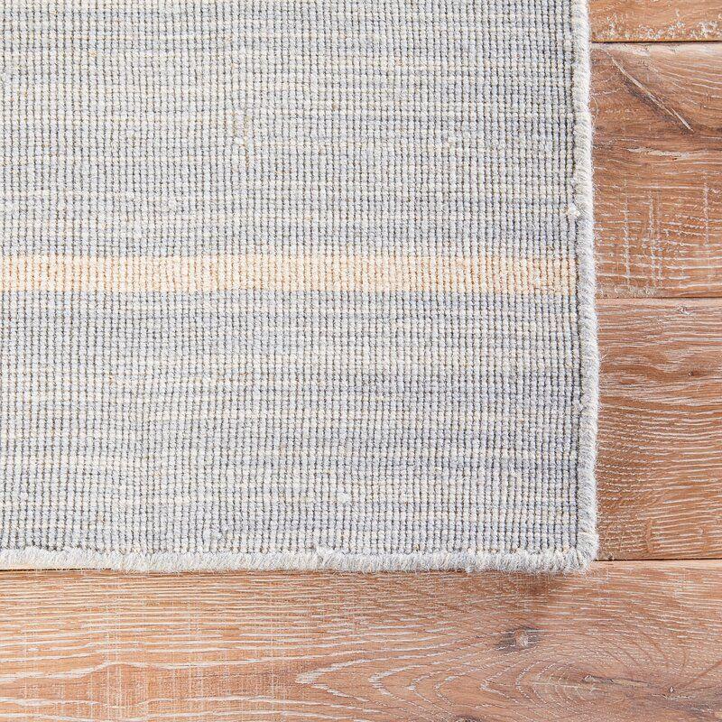 Joss Main Striped Handwoven Wool Blue White Area Rug Reviews Flatweave Area Rug Area Rugs Striped Rug