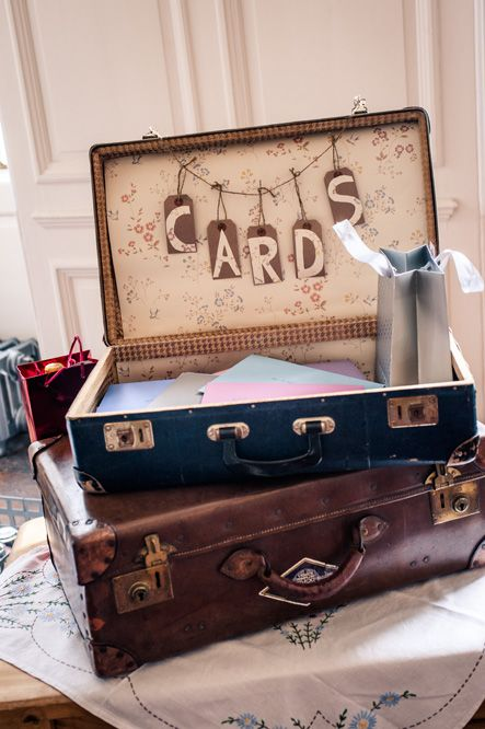 Image result for suitcases for wedding cards