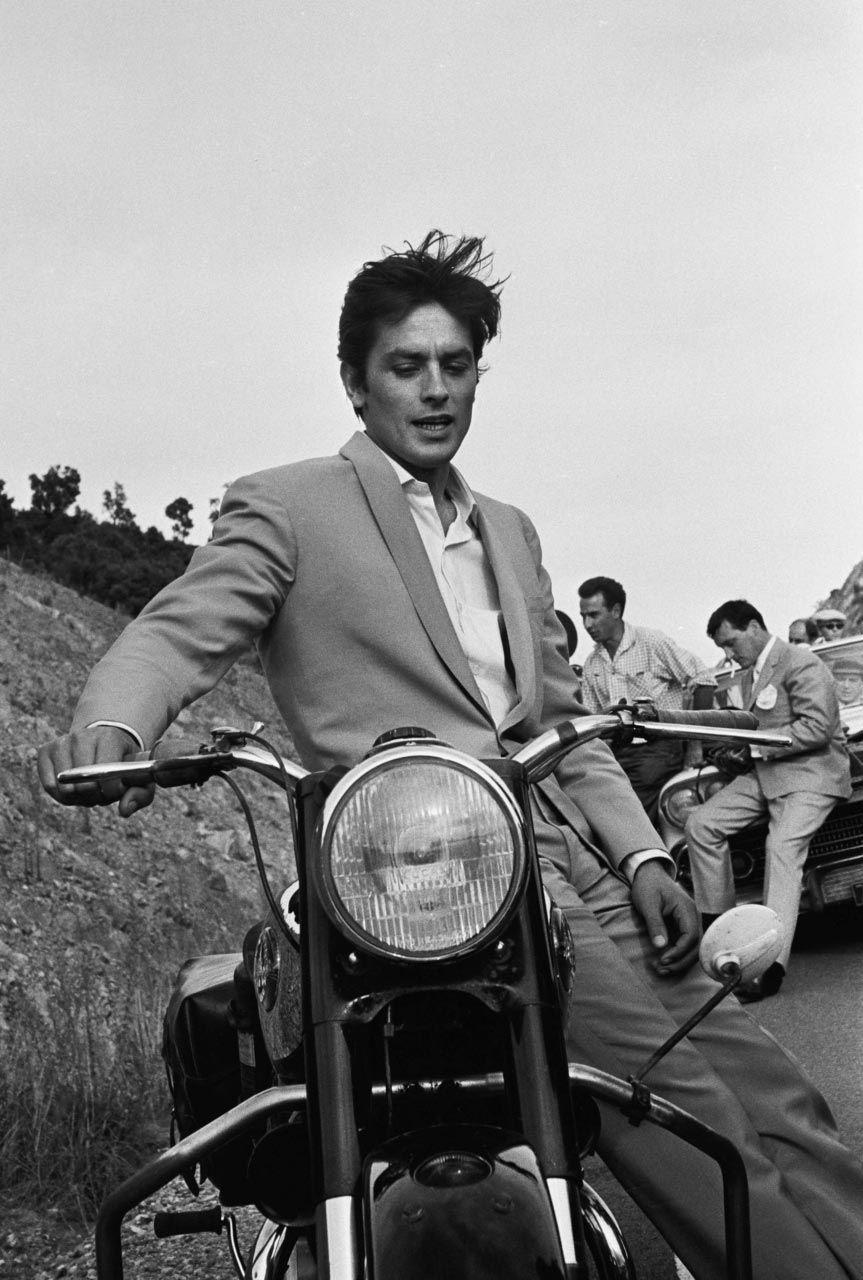 """Alain Delon, sur le tournage du film """"Les félins ..."""