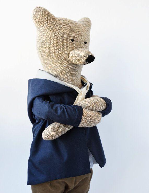 James The Bear. Primitive teddy Bear. Child friendly toys. Stuffed ...