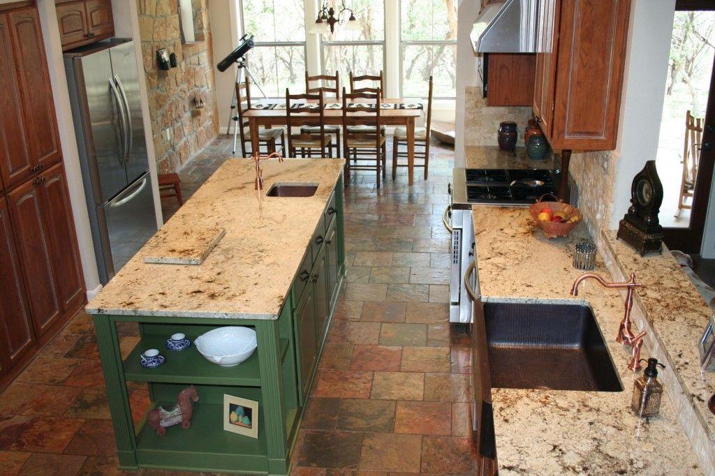 sienna beige granite copper farmhouse sink copper farmhouse sinks countertops kitchen on farmhouse kitchen granite countertops id=70164