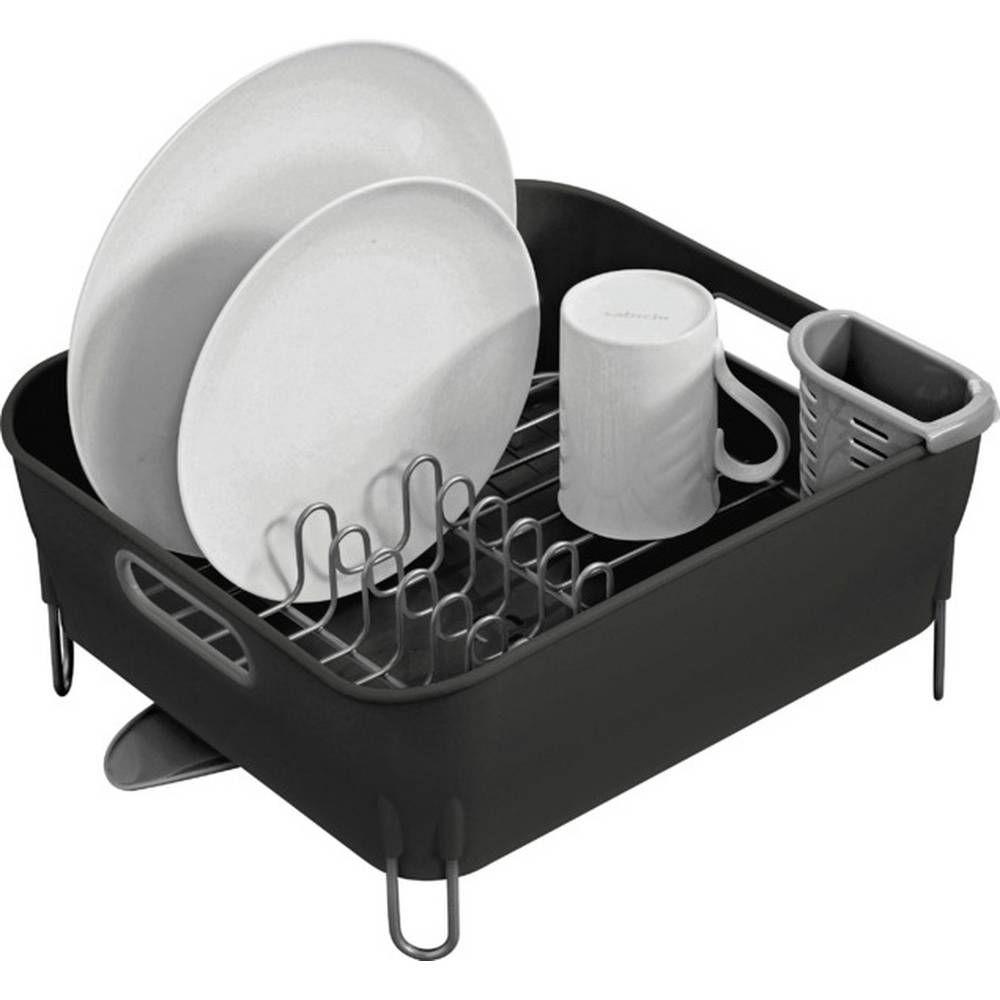 Buy simplehuman compact dish rack black dish racks