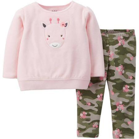 3273ee5802f9 Child Of Mine by Carter s Newborn Baby Girl Fleece Top and Pants ...