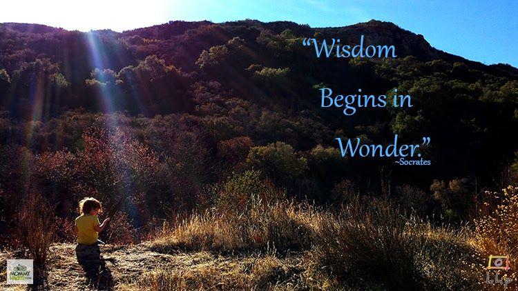 Mommy Hiker [Wandering Wisdom Wednesday] Wisdom Begins in