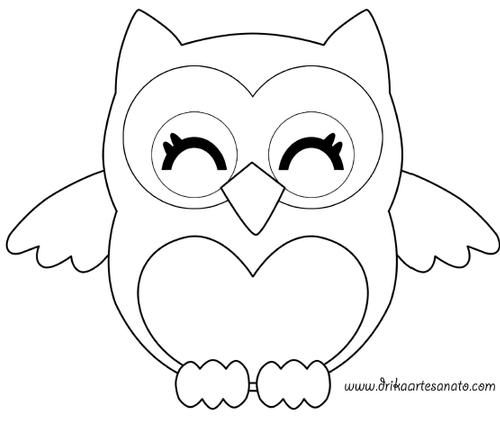 сова из фетра выкройка | Owl patterns, Owl templates, Owl ...