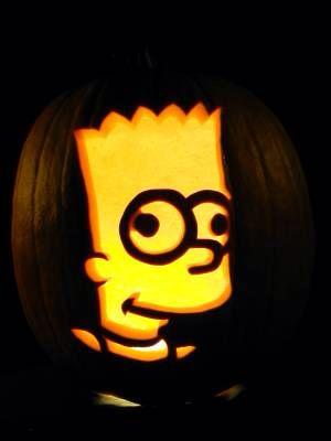 bart simpson pumpkin carving halloween pumpkin carving pumpkin rh pinterest com