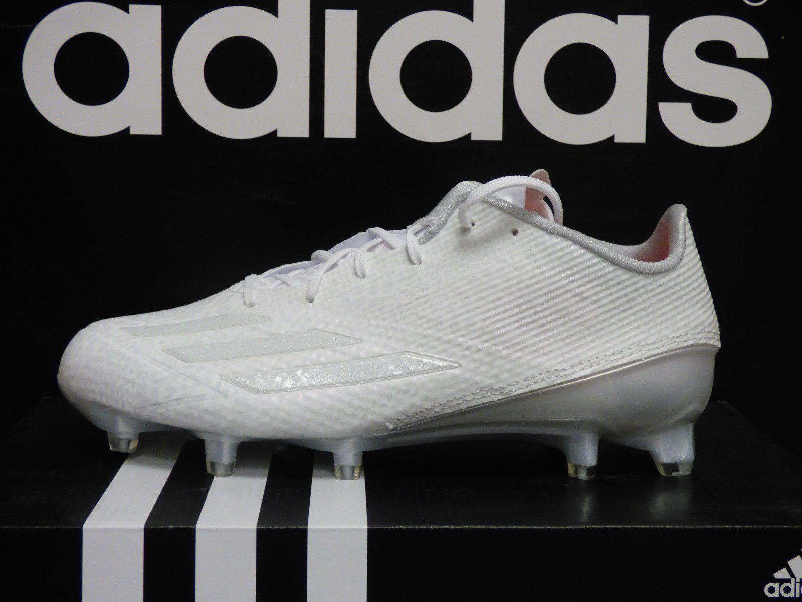 cf4454c1b13 NEW ADIDAS Adizero 5-Star 5.0 Mens Football Cleats White White  Q16063