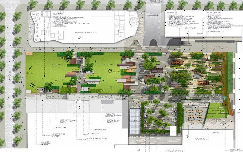 Uts Alumni Green Landscape Architecture Presentation Landscape Architecture Plan Landscape Plans