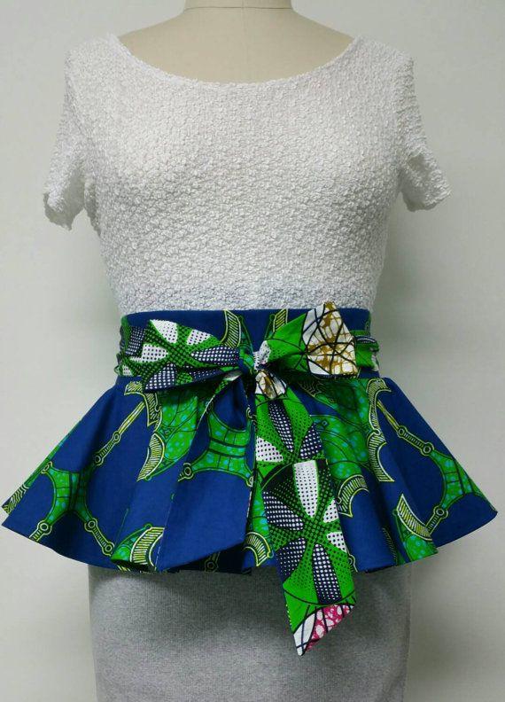 Reversible Peplum Belt. African Print Belt. Womens Clothing. Ankara Fabric.  Dutch Wax. ecf35196d7