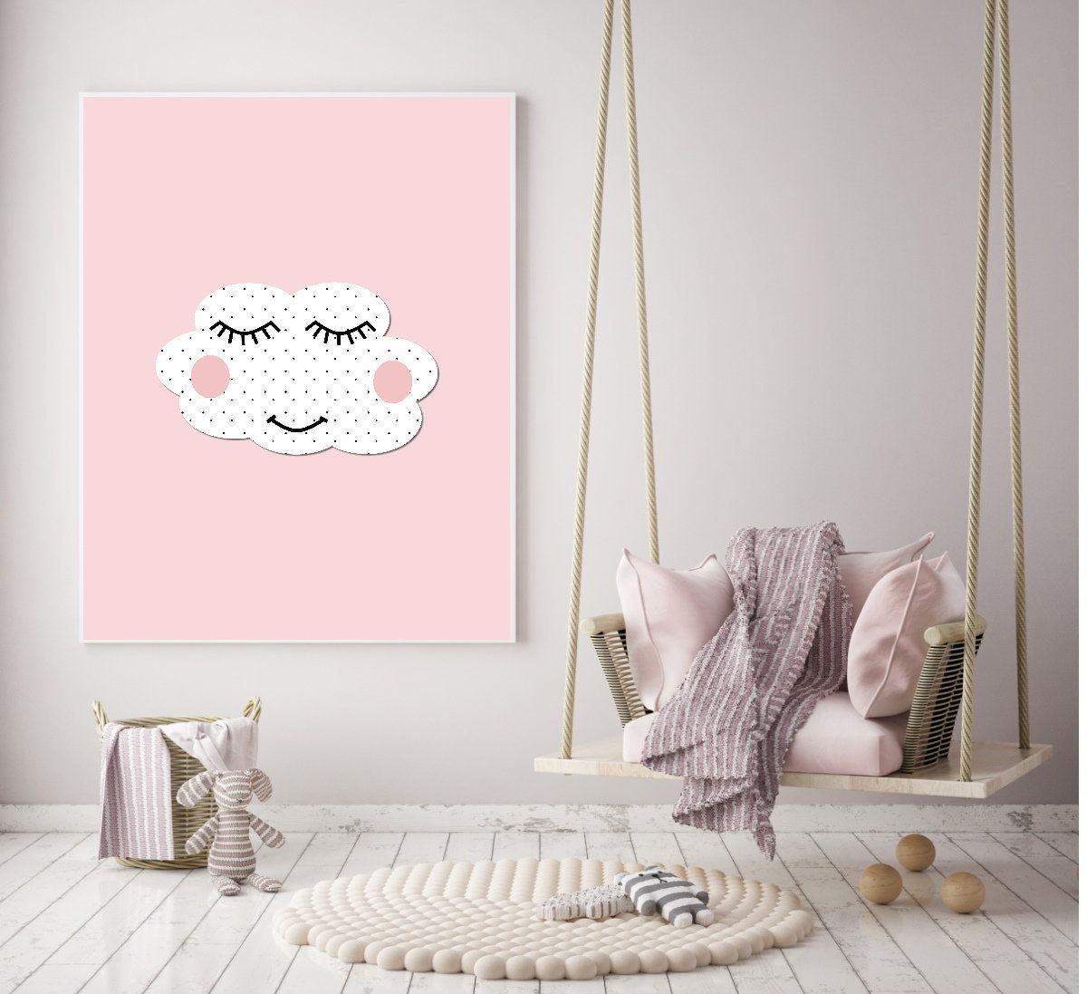 Nursery print cloud nursery art print printable nursery wall art