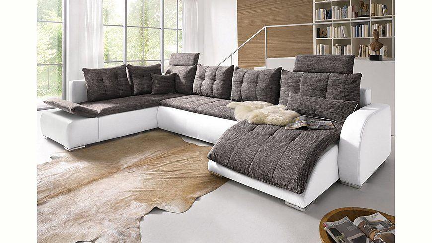 Collection AB Wohnlandschaft mit Bettfunktion Jetzt bestellen unter - wohnzimmer beige petrol
