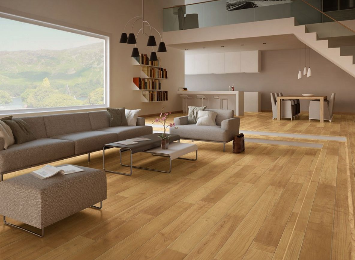 Light Realistic Wood Laminate Flooring Available at