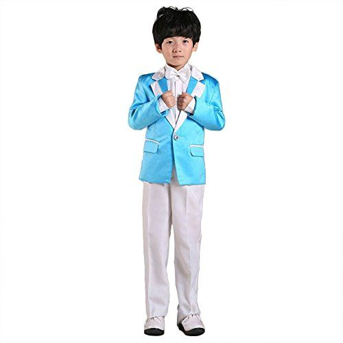 Morningsilkwig Blue or Green Boy Suits Formal Kids Suit 2-14 Years ...