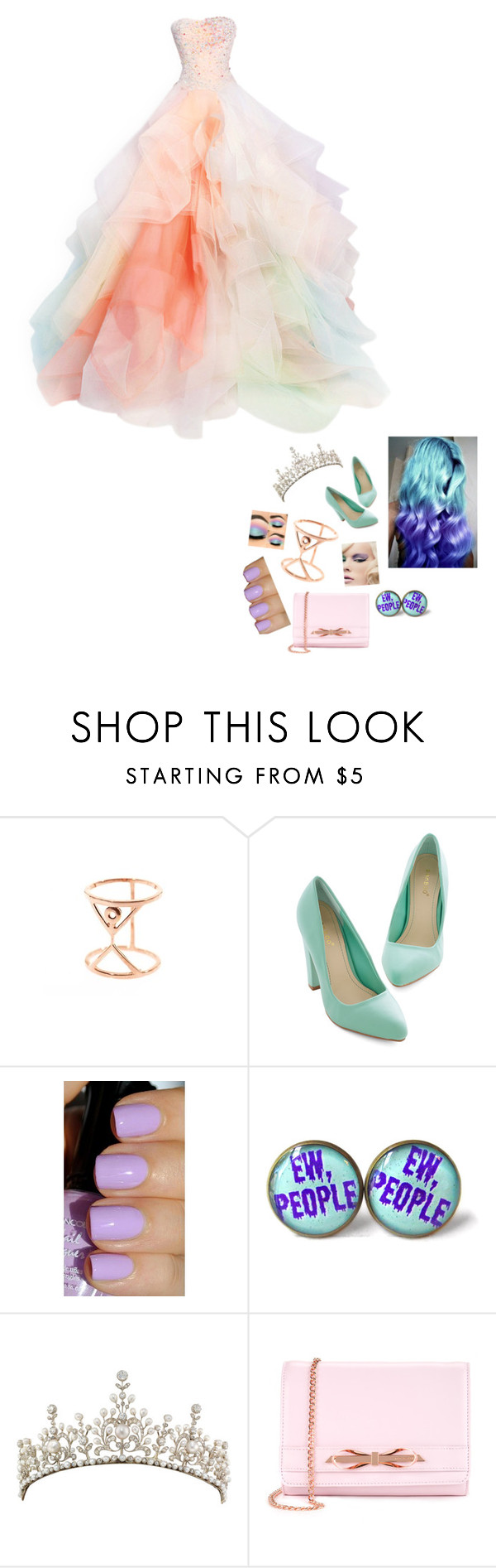 """Pastel princess"" by undead-charms ❤ liked on Polyvore featuring moda, Aamaya by priyanka y Ted Baker"