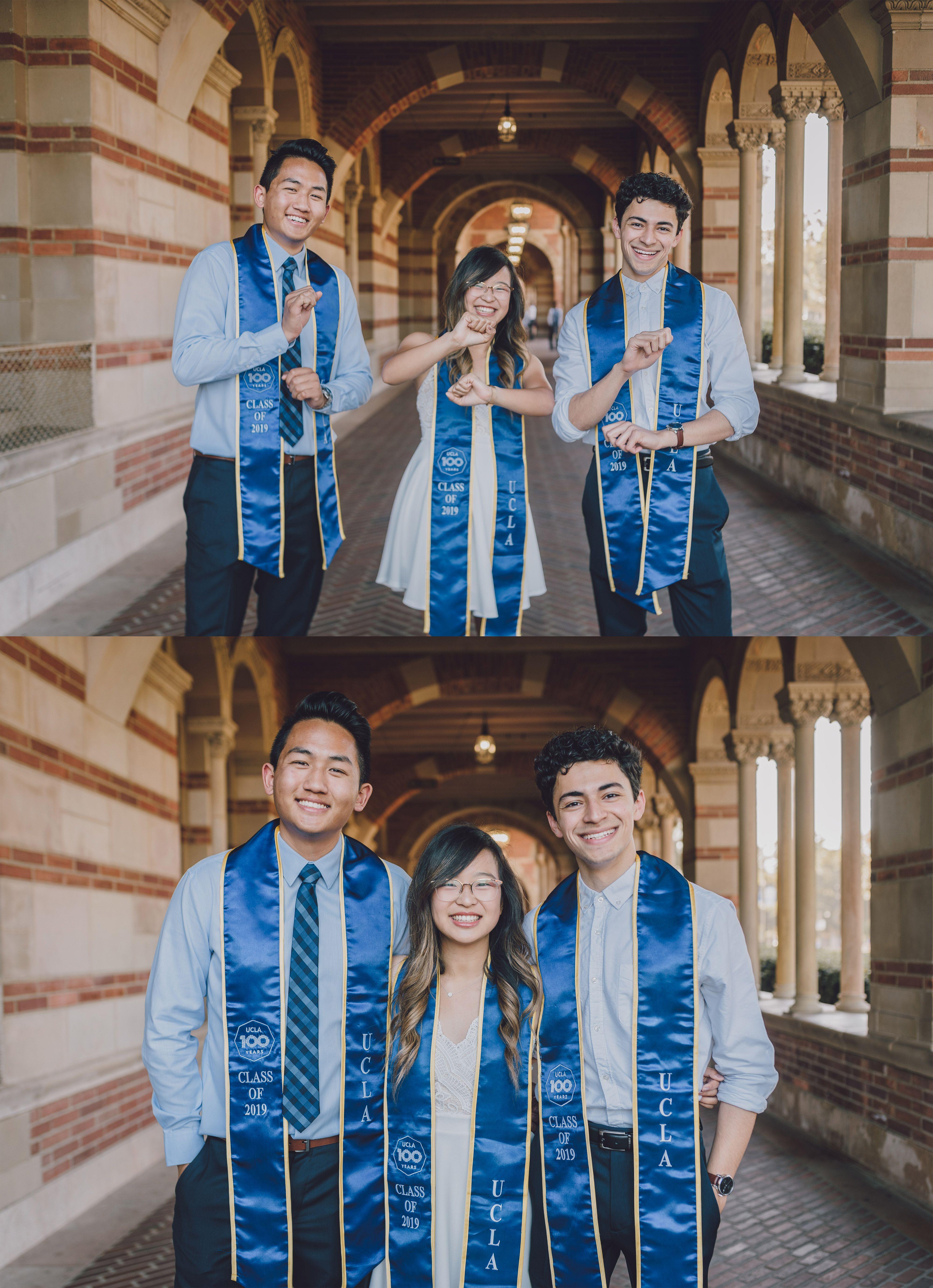 Ucla Graduation With Best Friends Los Angeles California Graduation Portraits California Wedding Portrait