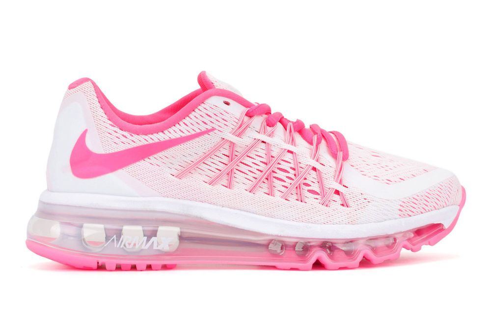 new nike air max 2015 running womens 6 5 5y white pink pow limited rh pinterest co uk