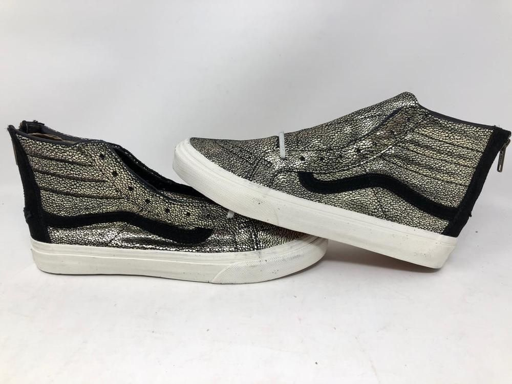 9dae902b31 VANS SK8 HI SLIM ZIP GOLD DOTS BLACK SKATE SNEAKERS MEN S 7.5 WOMEN S 9  NWOB  fashion  clothing  shoes  accessories  unisexclothingshoesaccs ...