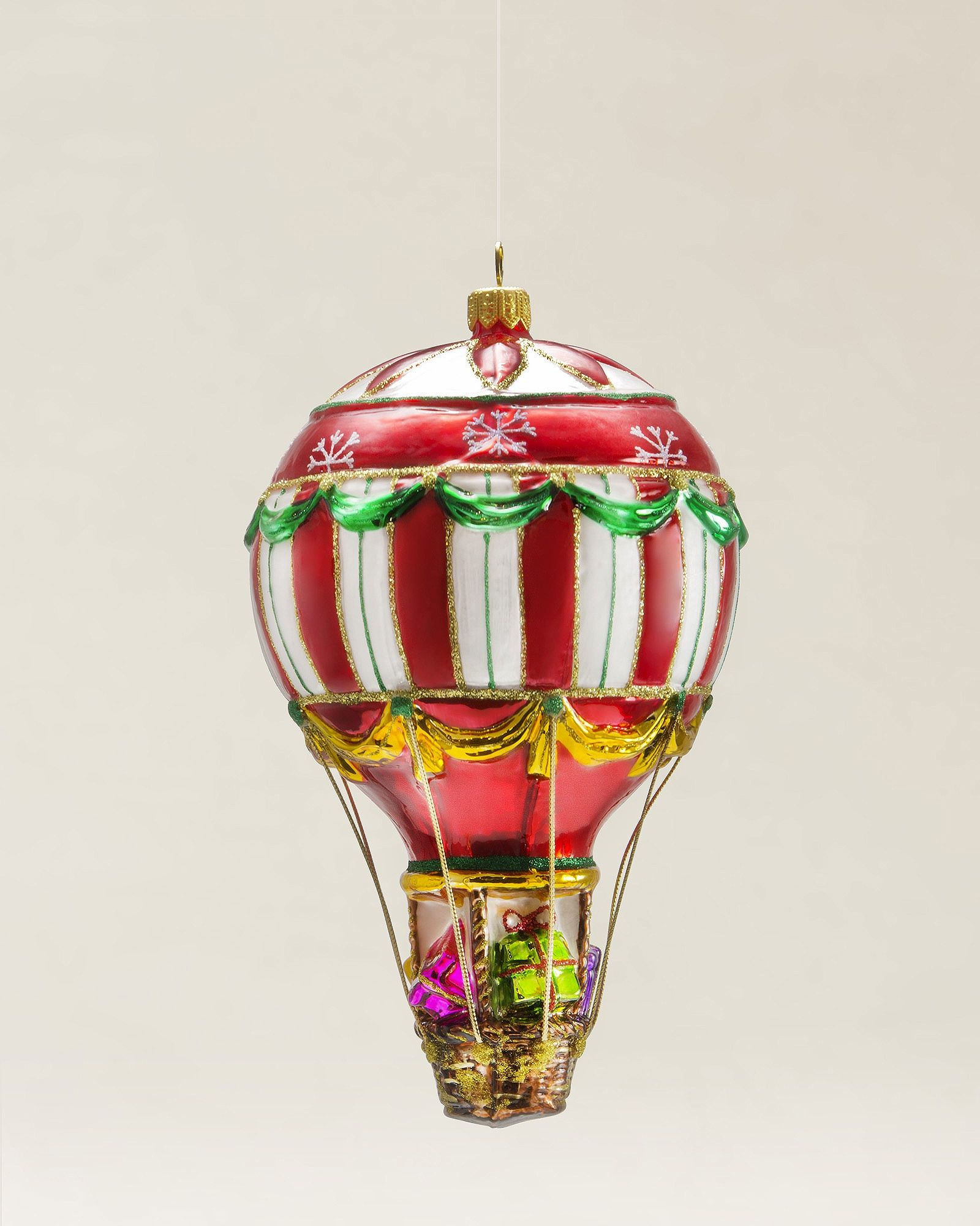 Hot Air Balloon Blown Glass Ornament | Christmas Ornaments ...