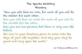 Reading Apache Wedding Blessing Wedding Blessing Wedding Prayer Wedding Ceremony Readings