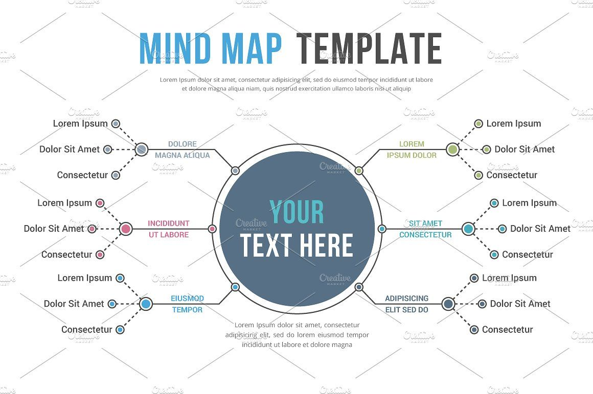 Mind Map Infographics AiVectorfontsArchive