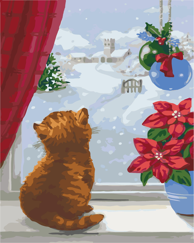 Картина по номерам Первая зима (KHO4008) 40 х 50 см [Без ...