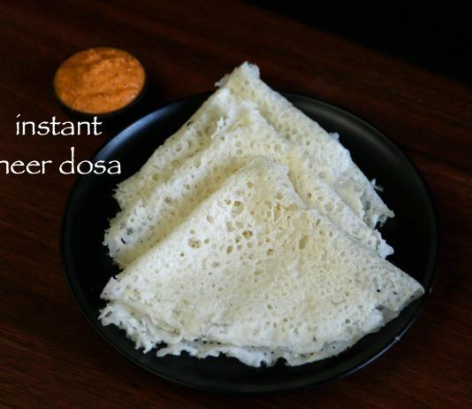 instant neer dosa recipe | neer dose with rice flour ...