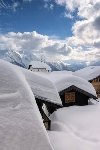 Photographic Print: Bettmeralp, canton Valais, Switzerland. by ClickAlps : 36x24in