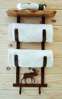 A Cabinplace.com Exclusive! – The Moose Towel Rack is designed ...
