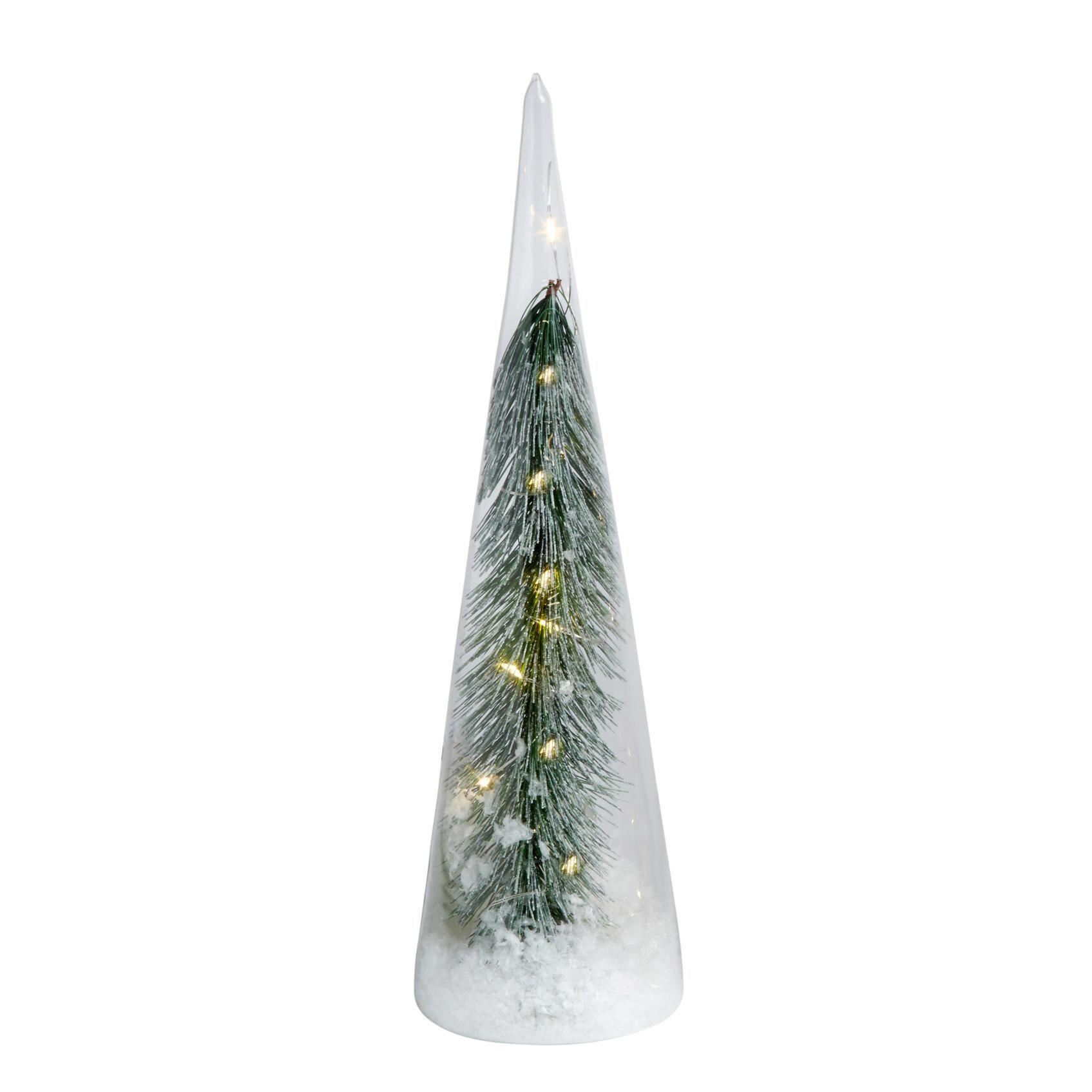 12 Evergreen Branch Led Glass Tree Light Evergreen Branch Tree Christmas Tree Shop Leaded Glass Tree Lighting