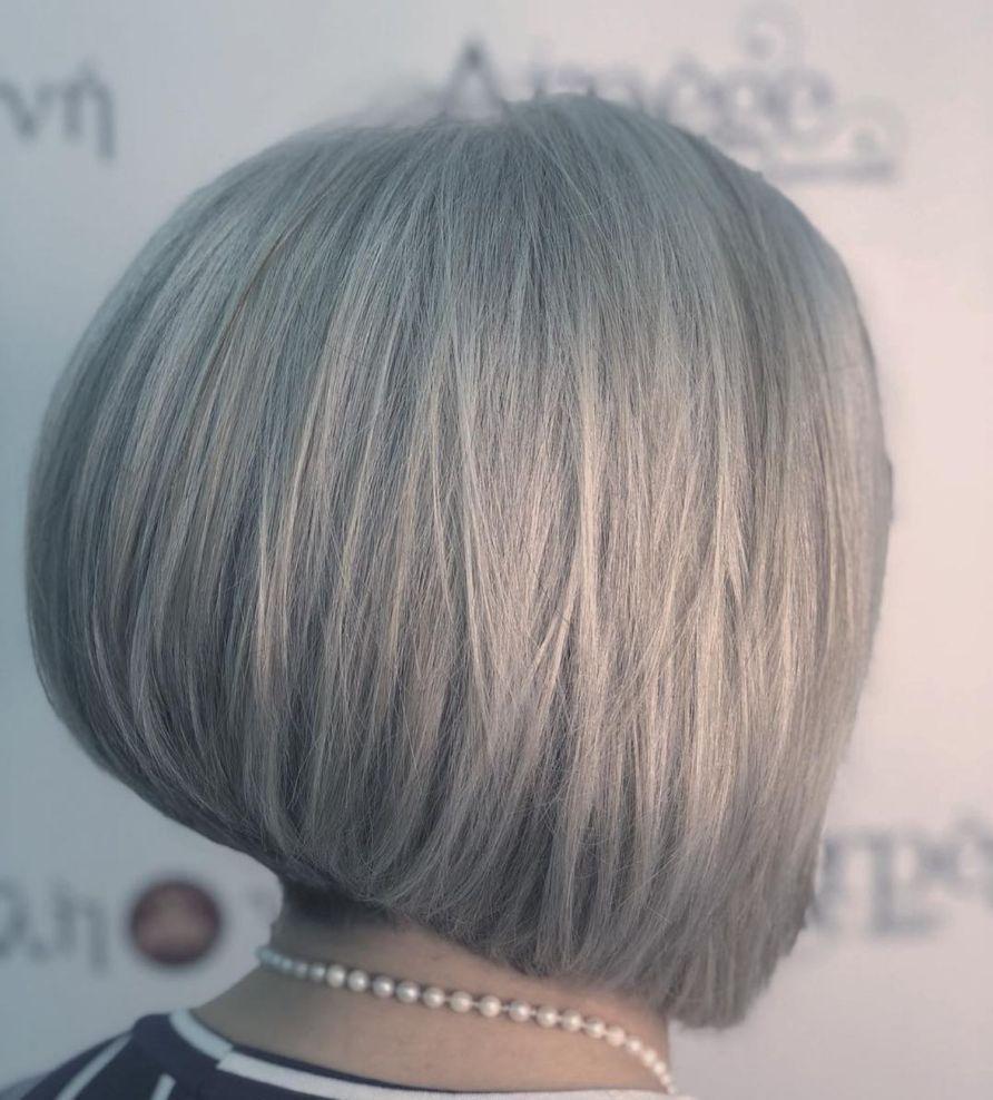 Pin On Grey Hair Bobs