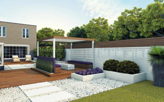 Decoracin de jardines de casas modernas Para Ms Informacin