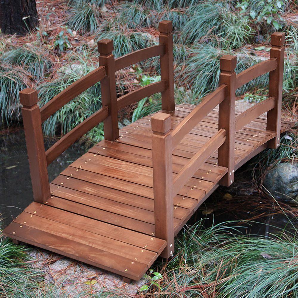 Pont De Jardin En Bois Exterieur Decoration Pont D Etang Neuf