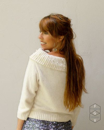 pearls angora silk and cashmere sweater