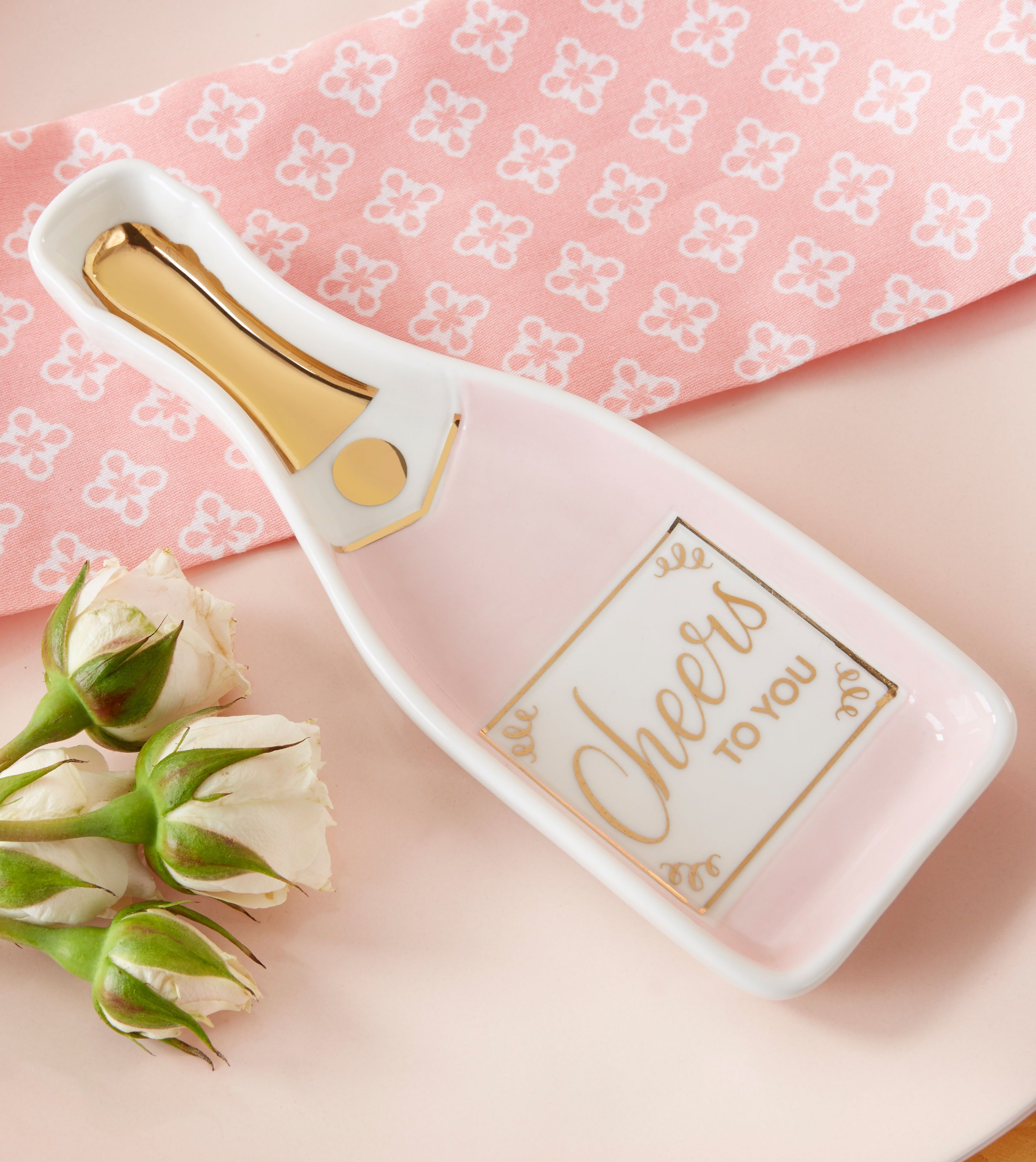 Pink Champagne Trinket Dish | Bridal Shower Favors | Pinterest ...