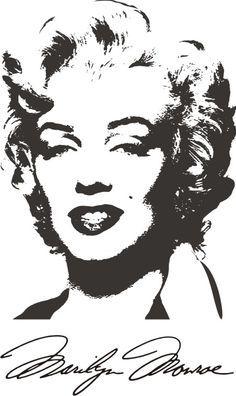 Marilyn Monroe 6 Marilyn Monroe Stencil Marilyn Monroe Art Marilyn Monroe